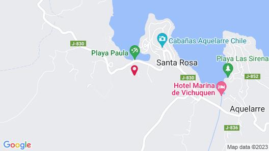 Cabañas Lago Vichuquen Map