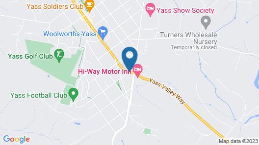 Colonial Lodge Motor Inn Yass Map