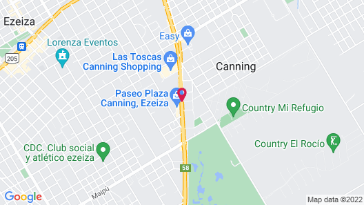 Hotel Plaza Central Canning Map