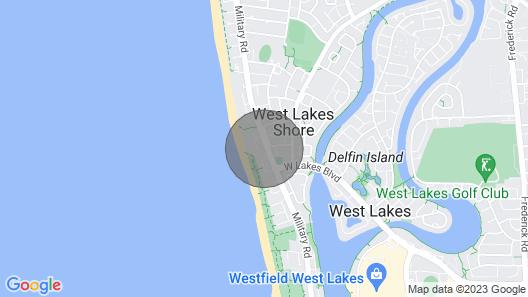 Beach Interlude - Walk to Beach, 14km to Adelaide CBD Map