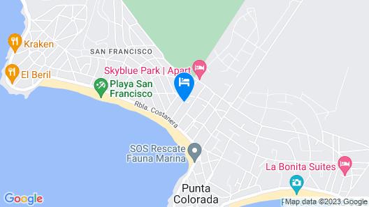 Bungalows Punta Colorada Map