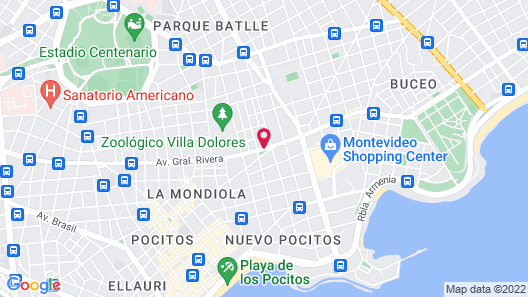 Regency Way Montevideo Hotel Map