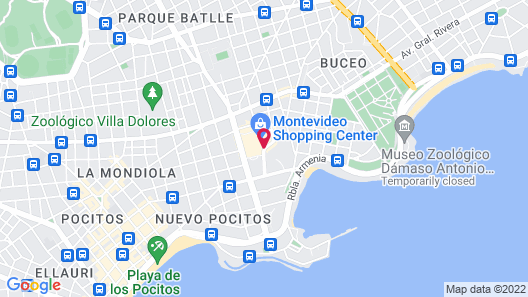 Hilton Garden Inn Montevideo Map