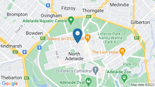 North Adelaide Boutique Stays Accommodation Map