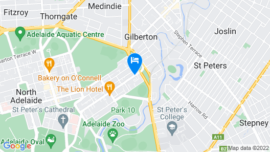 Adelaide Meridien Hotel & Apartments Map