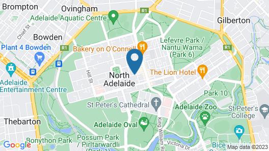 Adelaide Dresscircle Apartments - Archer Street Map