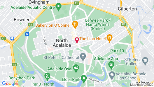 Adelaide Heritage Cottages & Apartments Map