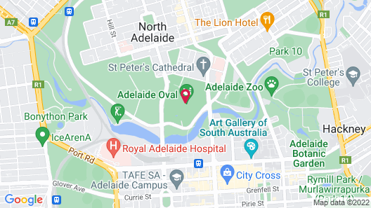 Oval Hotel Map