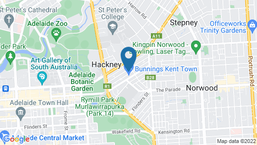 Adelaide Dress Circle Apartments - Kent Town Map
