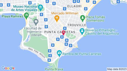Vivaldi Hotel Loft Punta Carretas Map