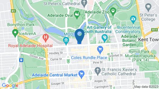 InterContinental Adelaide, an IHG Hotel Map