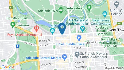 Grosvenor Hotel Adelaide Map