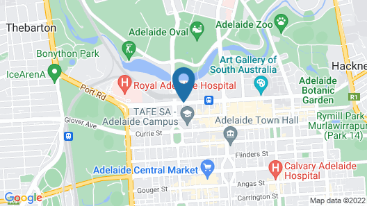 Adelaide DressCircle Apartments North Terrace Map