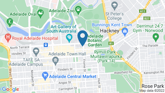 Crowne Plaza Adelaide Map