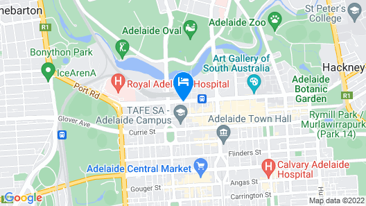 Oaks Adelaide Horizons Suites Map