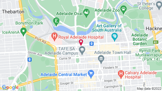 Oaks Adelaide Embassy Suites Map