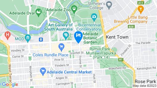 Crowne Plaza Adelaide, an IHG Hotel Map