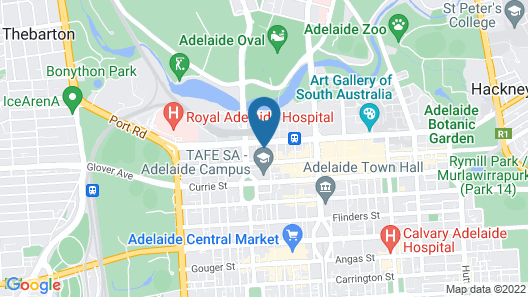 Adelaide North tce penthouse Map
