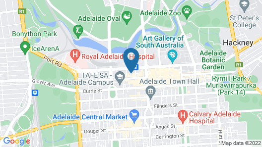 Holiday Inn Express Adelaide City Centre Map