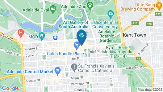 Hotel Richmond on Rundle Mall Map