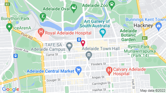Miller Apartments Adelaide Map