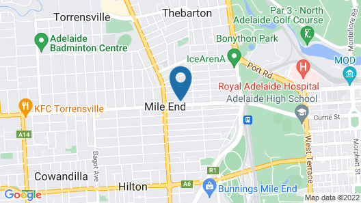 City West Motel Map