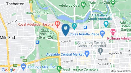 BreakFree Adelaide Map