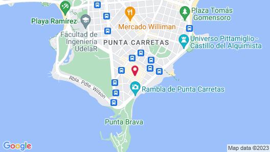 Aloft Montevideo Hotel Map