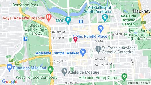 Tequila Sunrise Hostel (Adelaide) Map