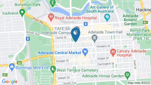 Adelaide Central YHA - Hostel Map