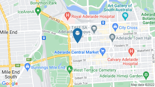 My Place & Adelaide Backpackers Hostel Map