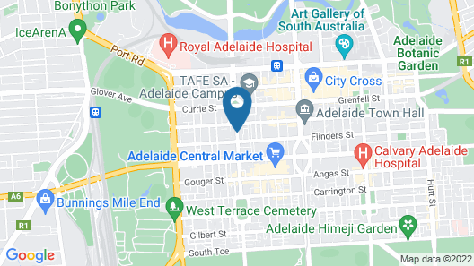 Astra Apartments Adelaide Map