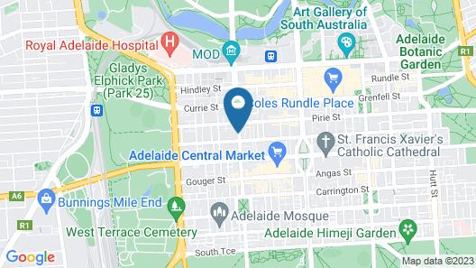 iStay Precinct Adelaide Map