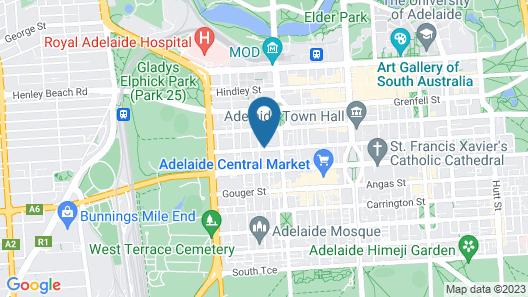 Avani Adelaide Residences Map