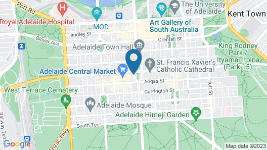 Hilton Adelaide Map