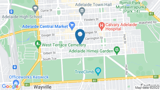 RNR Serviced Apartments Adelaide Map