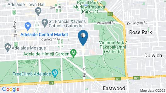 Adelaide Travellers Inn - Hostel Map