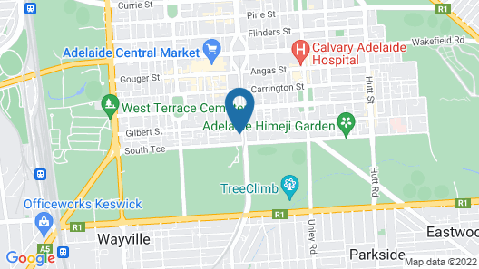 Adelaide Vue penthouse. Map