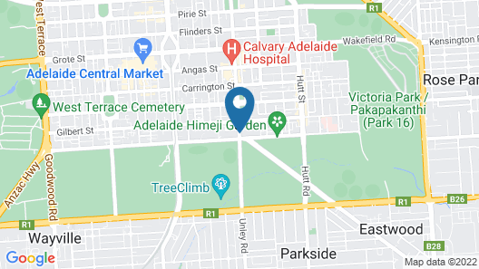 Adelaide City Park Motel Map