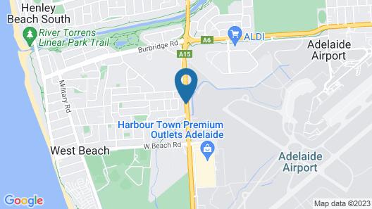 Aviators Lodge Motel Map