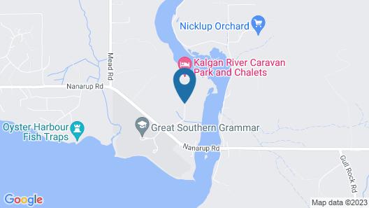 Kalgan River Chalets and Caravan Park Map