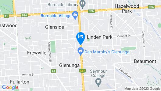 Best Western Adelaide Granada Motor Inn Map