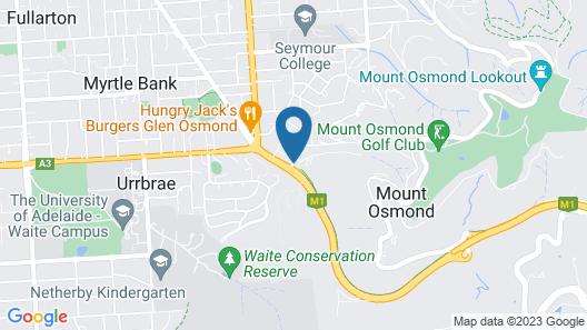 Tollgate Motel Map