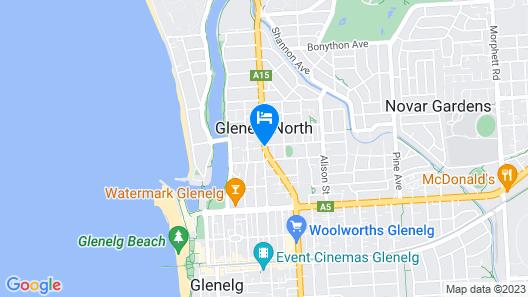 Glenelg Motel Map