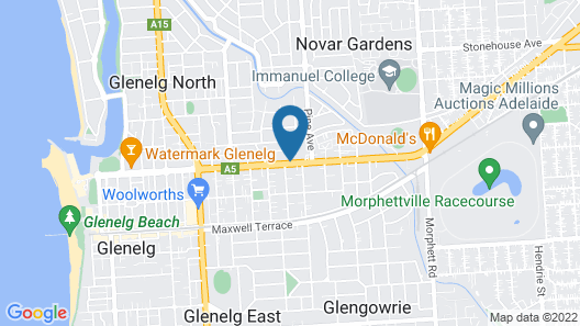 Adelaide International Motel Map