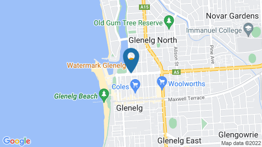 Nightcap at Watermark Glenelg Map
