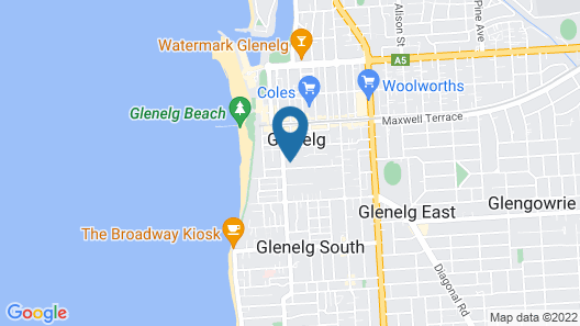 Aqua Waves Glenelg Central Studio Apt Map