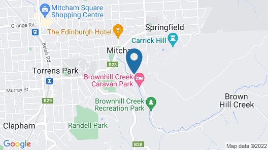 Adelaide's Brownhill Creek Tourist Park Map