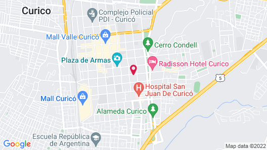 Hostal Altue Curico Map