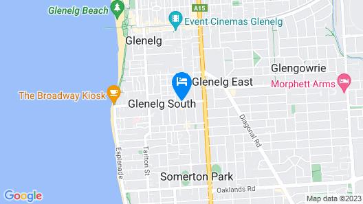 Glenelg Holiday /corporate Accommodation Map